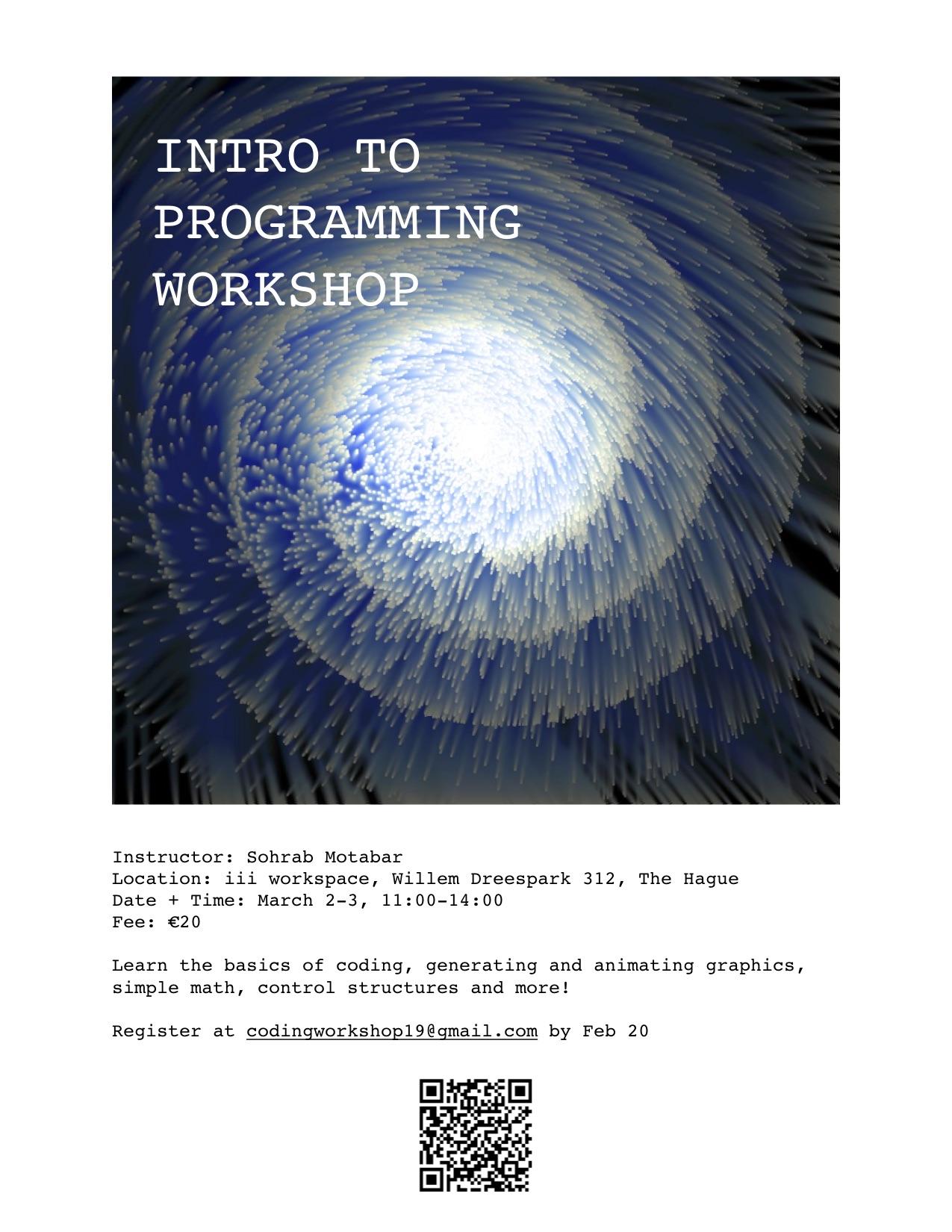 intro to programming workshop poster qr v2